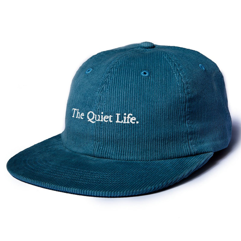 The Quiet Life - Serif Cord Polo Hat, Ocean