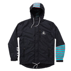 The Quiet Life - Wanderer Men's Windbreaker, Black/Teal - The Giant Peach