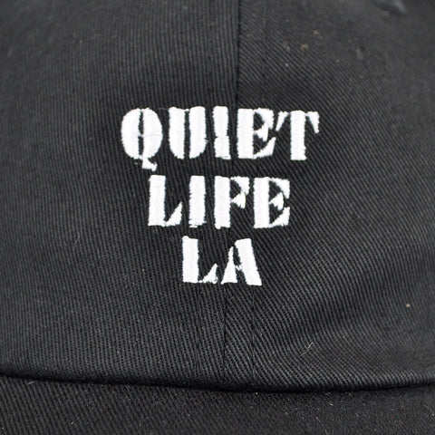Quiet Life - Zone Dad Hat, Black