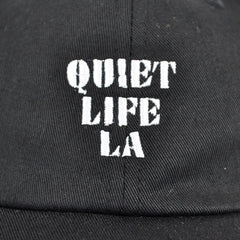 Quiet Life - Zone Dad Hat, Black - The Giant Peach