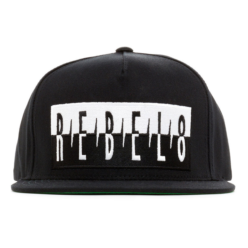 REBEL8 - The Shot Snapback Hat, Black - The Giant Peach