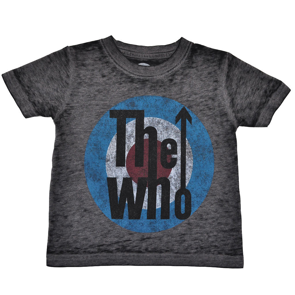 The Who - Logo Toddler Tee, Distressed Black - The Giant Peach