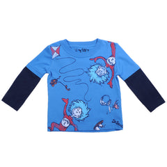 Dr. Seuss - Thing One and Thing Two L/S Infant's Shirt, Blue/Black - The Giant Peach