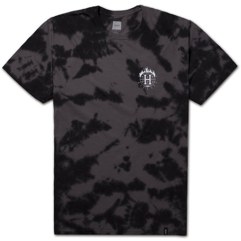 HUF x Thrasher TDS Crystal Wash Men's Tee, Black