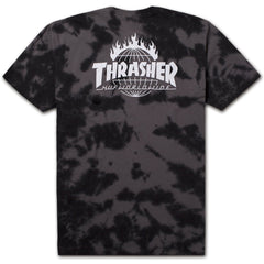 HUF x Thrasher TDS Crystal Wash Men's Tee, Black - The Giant Peach