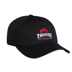 HUF x Thrasher TDS Curve Visor 6 Panel, Black
