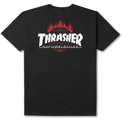 HUF x Thrasher TDS Men's Tee, Black