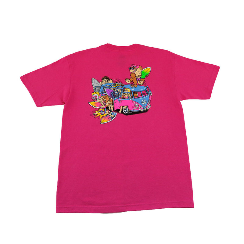 Thrilla Krew - Microbus Men's Tee, Hot Pink