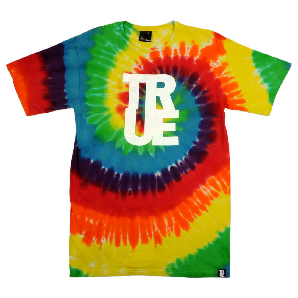 TRUE - True Logo Tie-Dye T-Shirt, Multi - The Giant Peach