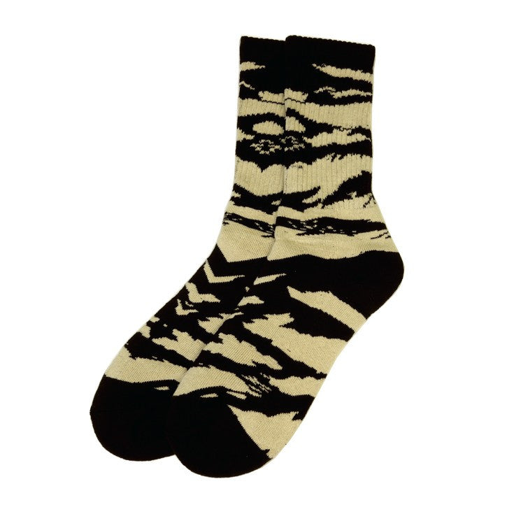 TRUE - Tiger Camo Men's Socks, Natural - The Giant Peach
