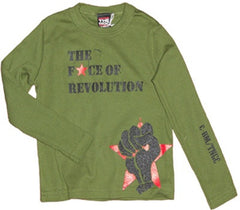 The Nitty Gritty Committee - Revolution L/S Toddler Tee, Olive - The Giant Peach