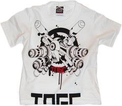 The Nitty Gritty Committee - Mecha Infant & Toddler Tee, White - The Giant Peach