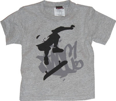 The Nitty Gritty Committee - Kickflip Toddler Tee, Heather Grey - The Giant Peach
