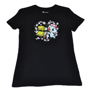 tokidoki x gudetama - Cherry Sleeves Women's Tee, Black