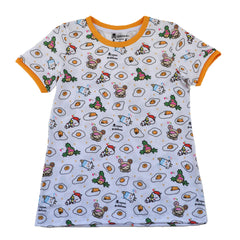 tokidoki - Gudetama Pattern Women's Tee, White - The Giant Peach