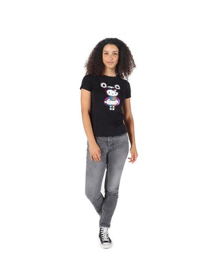 tokidoki  x Hello Kitty Holographic Kitty Women's Tee, Black