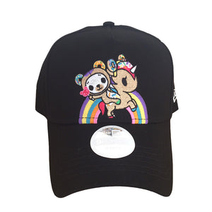 tokidoki - Rainbow Ride Snapback Hat, Black