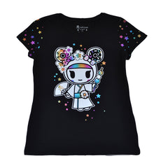 tokidoki - Sparkle Baby Women's Tee, Black - The Giant Peach