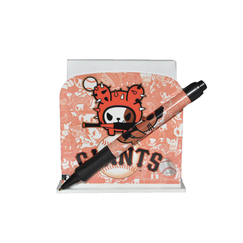 tokidoki for MLB - SF Giants Desk Caddy & Pen Set - The Giant Peach