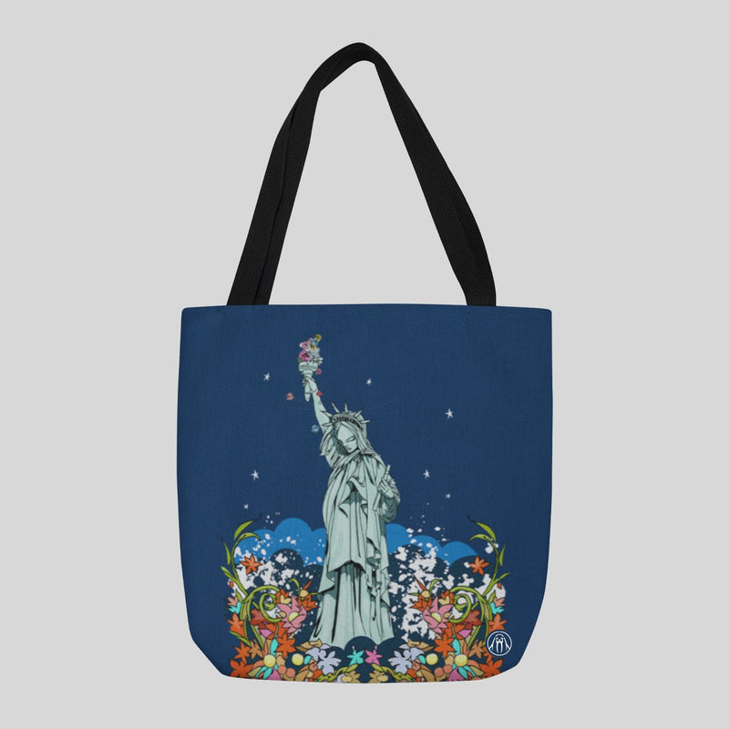 Upper Playground - Sam Flores ...And Justice For All Tote, Navy