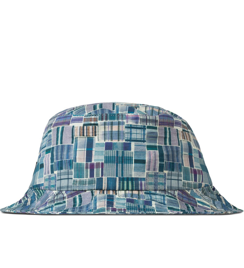 The Quiet Life - Liberty Madras Bucket Hat, Blue - The Giant Peach