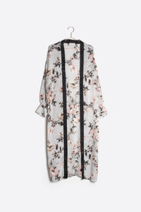 MOD REF - The Rosie Satin Cardigan, Icy Floral