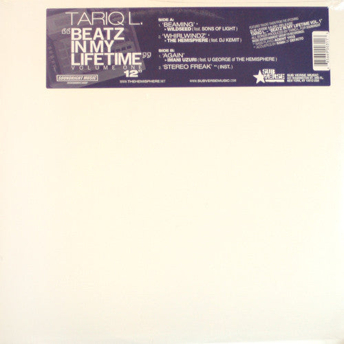 "Tariq L. - Beatz In My Lifetime Vol. 1, 12"" Vinyl - The Giant Peach"