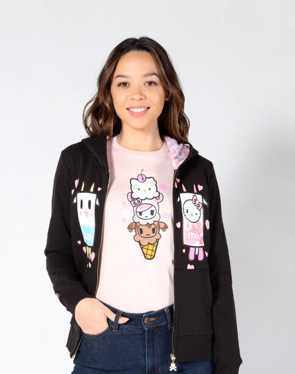 tokidoki  x Hello Kitty Triple Kitty Women's Tee, Pink