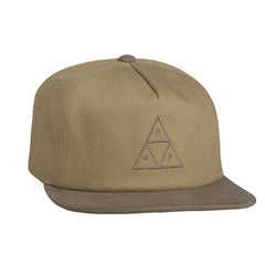 HUF - Triple Triangle Snapback, Khaki - The Giant Peach