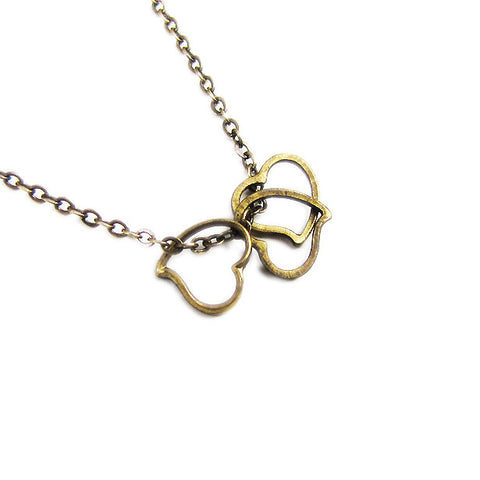 Ornamental Things - Triple Heart Necklace