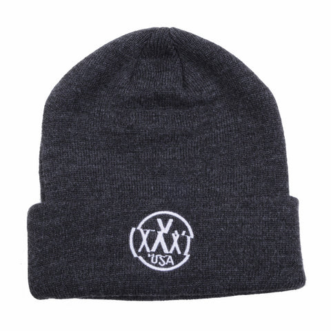 10Deep - Triple X Shift Beanie, Charcoal Heather - The Giant Peach