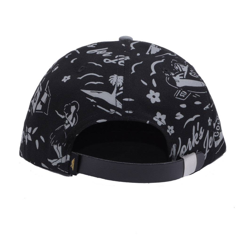 Benny Gold - Tropics Pattern Polo 6-Panel Hat, Black - The Giant Peach