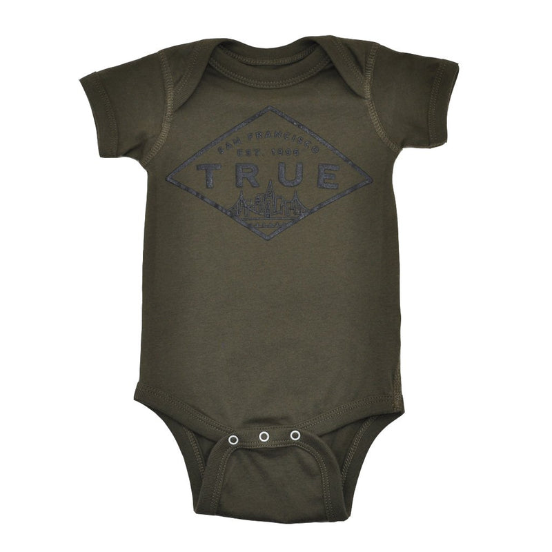 TRUE - Established Basic Infant One Piece, Olive