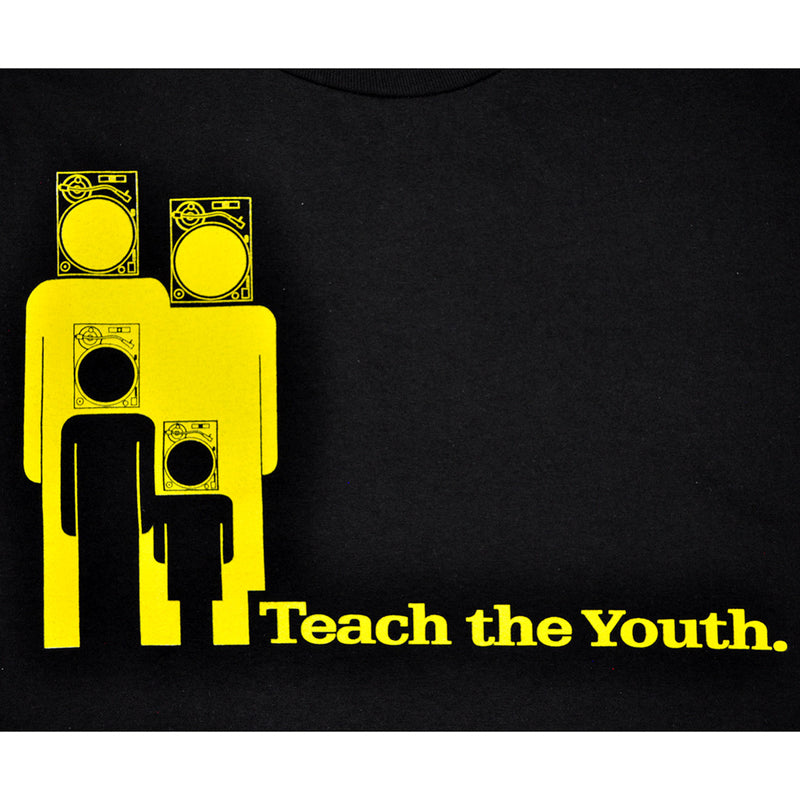 Ongaku - Teach Youth Men's T-Shirt, Black - The Giant Peach