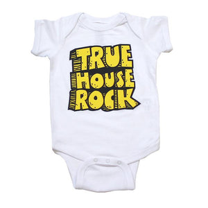 TRUE - True House Rocks Infant One Piece, White