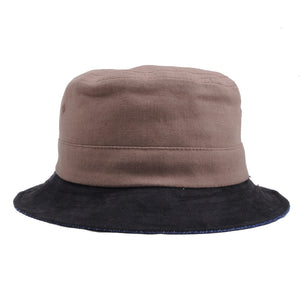Brixton - Tull Reversible Bucket Hat, Brown/Navy - The Giant Peach