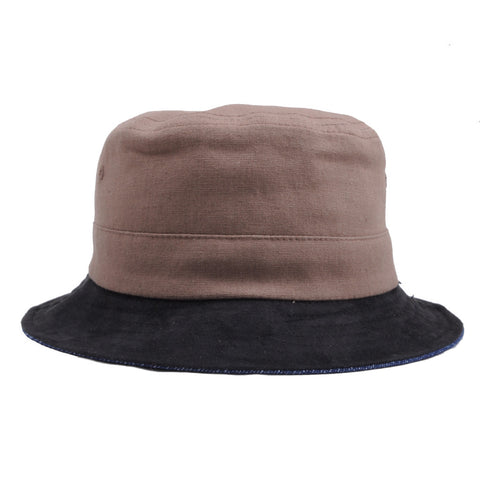 Brixton - Tull Reversible Bucket Hat, Brown/Navy - The Giant Peach - 1