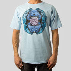 SuperFishal (Jeremy Fish) - Unzipping The Past Men's Shirt, Light Blue - The Giant Peach