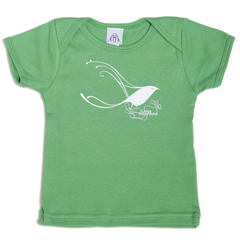 Upper Playground  - Herbert Baglione Bird Infant & Toddler Tee, Grass - The Giant Peach
