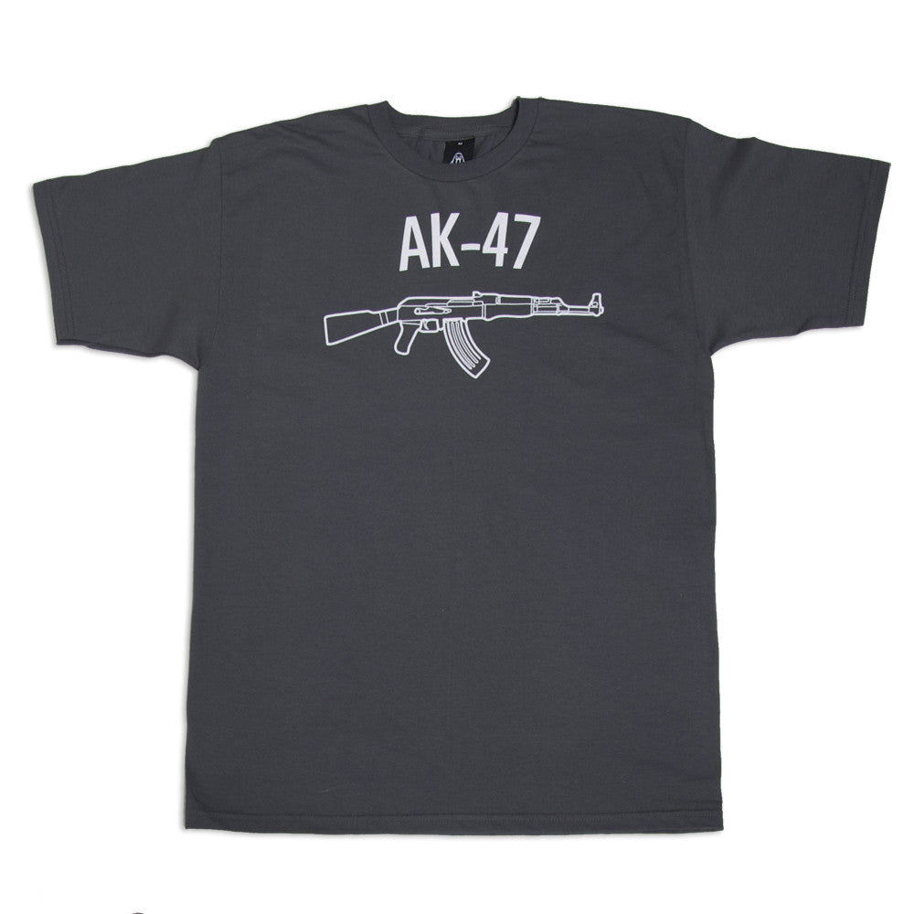 Upper Playground - AK-47 Men's Shirt, Charcoal - The Giant Peach - 1