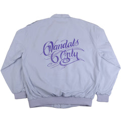 594 - Vandals Only Men's Jacket, Light Grey w/ Purple Print - The Giant Peach - 1