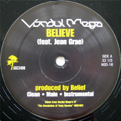 "Vordul Mega - Believe b/w Stay Up, 12"" Vinyl - The Giant Peach"
