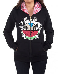 tokidoki - Juicy Women's Hoodie, Black - The Giant Peach