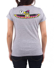 tokidoki - Toki Totem Women's Shirt, Heather Grey - The Giant Peach - 2