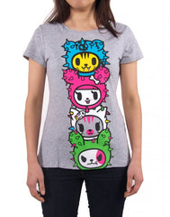 tokidoki - Toki Totem Women's Shirt, Heather Grey - The Giant Peach