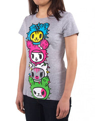 tokidoki - Toki Totem Women's Shirt, Heather Grey - The Giant Peach - 3