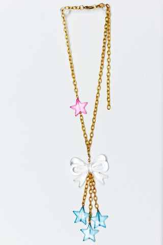 TRiXY STARR - Kylie Necklace, Gold/Blue/Clear/Pink