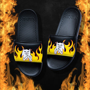 RIPNDIP - Welcome To Heck Slides, Black Flame