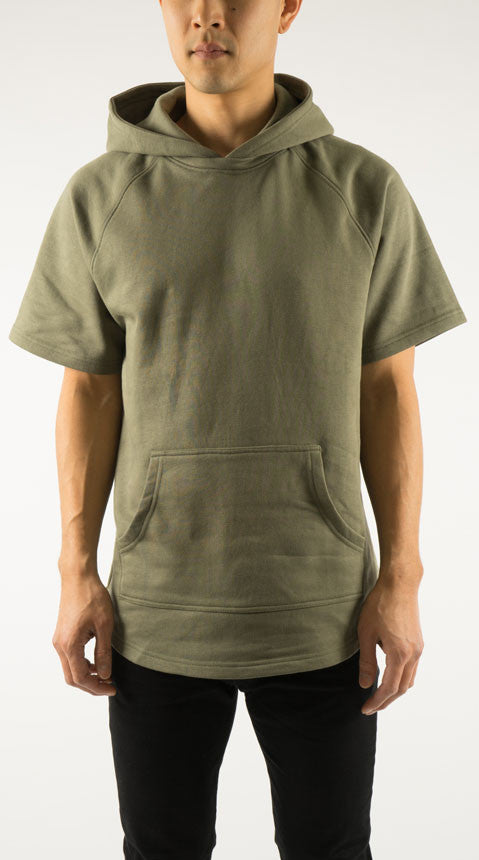 Akomplice VSOP -  West S/S Men's Hoodie, Military Green - The Giant Peach - 1