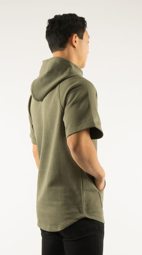 Akomplice VSOP -  West S/S Men's Hoodie, Military Green - The Giant Peach - 2